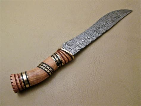 Handmade Bowie Knife - amazing damascus bowie knife custom handmade damascus