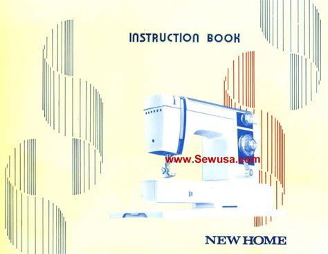 new home model 900 sewing machine manual