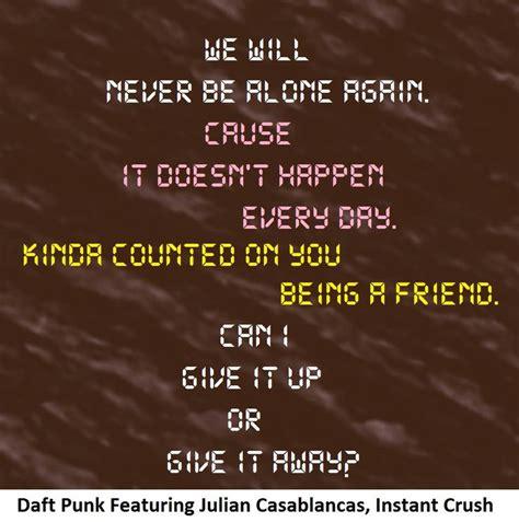 daft punk instant crush lyrics 807 best laryngeal lyrics images on pinterest lyrics