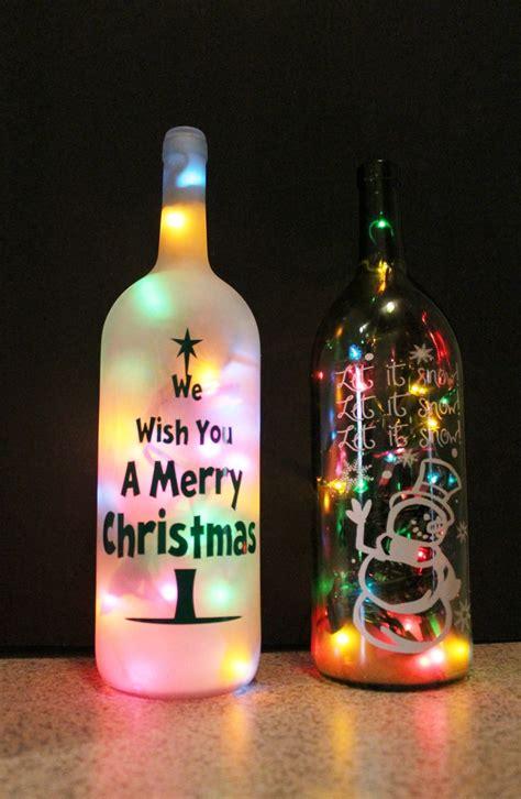 wine bottle christmas lights 834 best wine bottle crafts images on pinterest