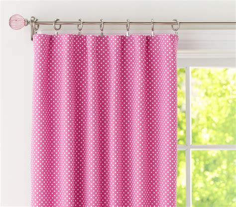 pottery barn pink curtains nwt s 2 pottery barn kids brignt pink mini dot blackout