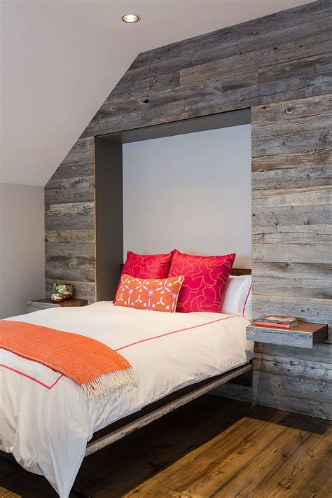 25 Awesome Bedrooms with Reclaimed Wood Walls Wood Wallpaper Bedroom