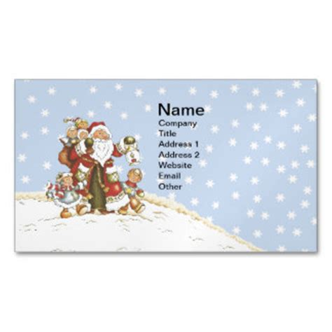 kids christmas business cards amp templates zazzle
