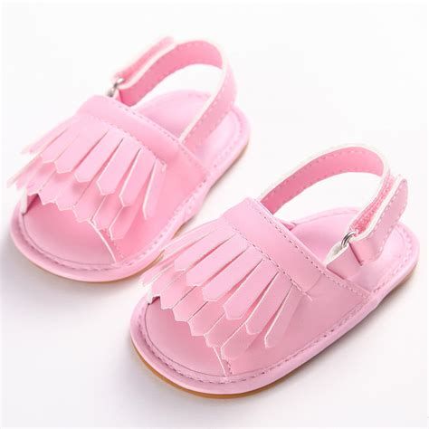baby sandals summer tassel toddler baby boys sandals rubber sole