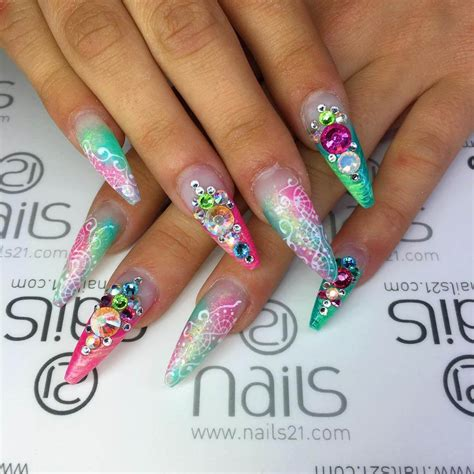 colorful acrylic nails 26 colorful nail designs ideas design trends