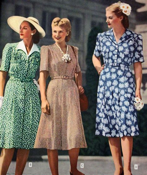 1940s womens fashion women s 1940 s day dress history