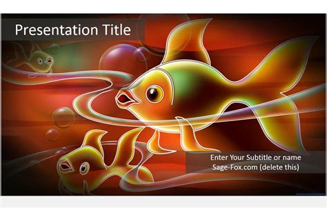 Free Cartoon Fish Powerpoint Template 5981 Sagefox Fish Ppt Templates Free