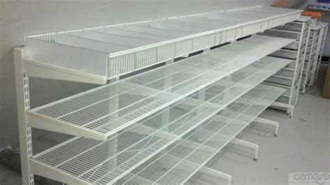 Wire Shelves Closet by Elfa 10 Freestanding White Closet Organizer Ventilated Wire Rack Shelf Shelving Ebay