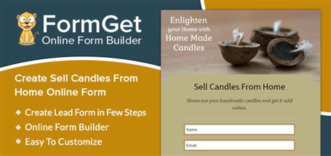 formget create home made candle selling form for