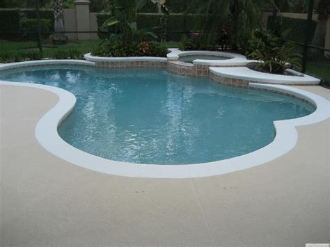pool patio paint white edge pool deck color of pool deck should be a gray brown color house