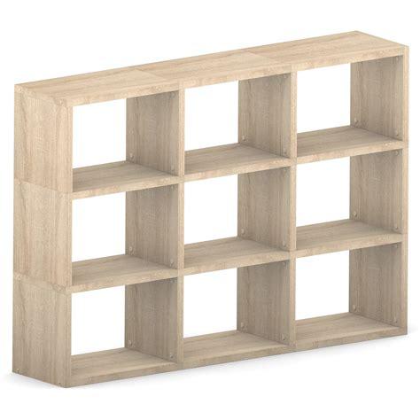 modular 9 wide cube oak 1738l x 1096h x 328d mastershelf