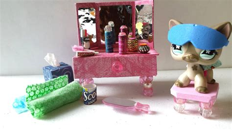 lps bathroom how to make an lps vanity and bathroom accessories doll diy