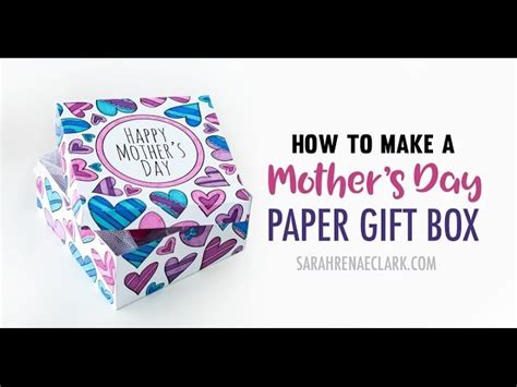 How To Make A Paper Gift Box With Lid - how to make a paper gift box with this printable gift box