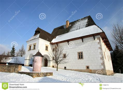 fortified house of a rich farmer royalty free stock image