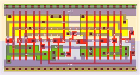 xor vlsi layout xor3 wsclib013 standard cell family