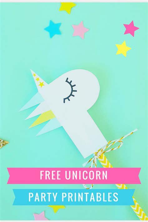 printable unicorn birthday free unicorn party printables confetti balloons