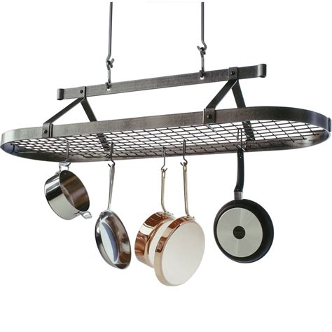 Hanging Pan Racks by 5 Foot Oval Hanging Pot Rack In Hanging Pot Racks