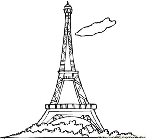 coloring pages eiffel tower countries gt france free
