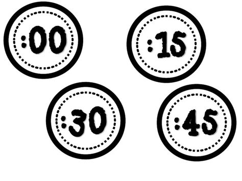 free printable clock numbers printable numbers for clock math pinterest