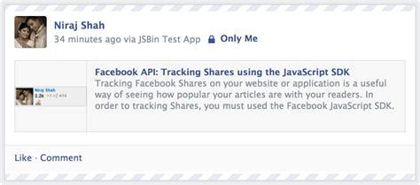 tutorial javascript sdk facebook api tracking shares using the javascript sdk