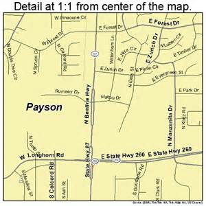 map of payson arizona payson arizona map 0453700