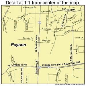 payson arizona map 0453700