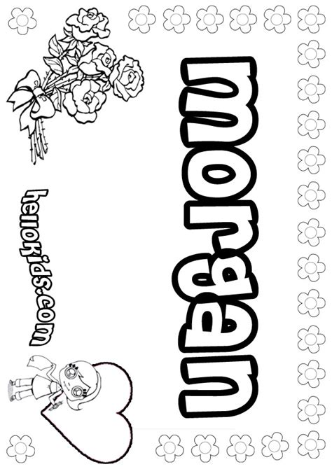 coloring pages of the name morgan girls name coloring pages morgan girly name to color