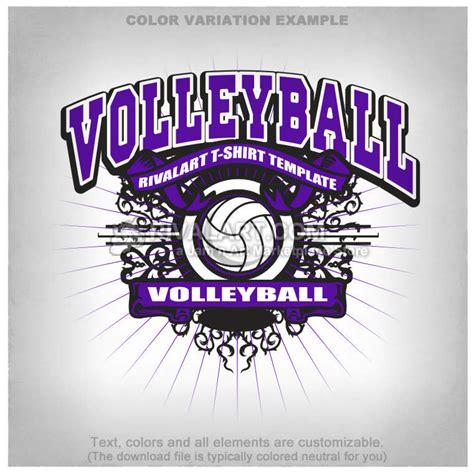 volleyball t shirt design template vball 04 rq
