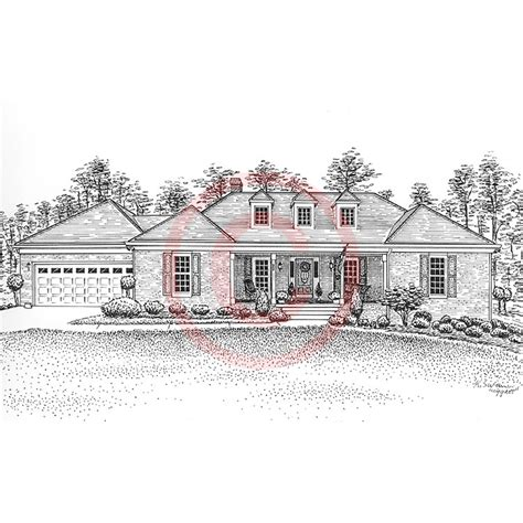 drawing of houses pen and ink artist kelli swan custom portraits of houses
