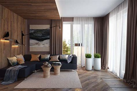 cozy home interior design 4 cozy living rooms with wooden interior design