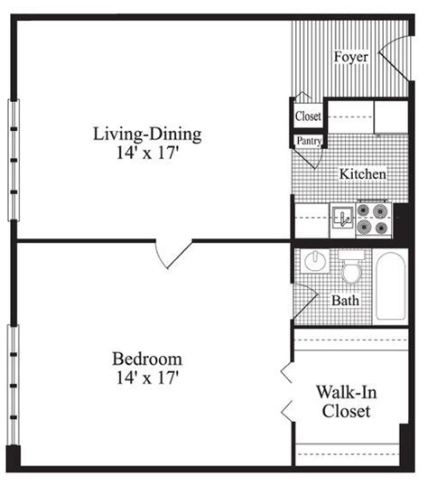 One Bedroom Floor Plans 25 Best Ideas About 1 Bedroom House Plans On