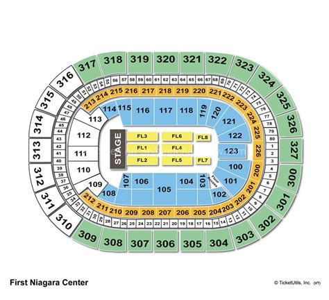 niagara center seating chart concerts niagara center buffalo ny seating chart view
