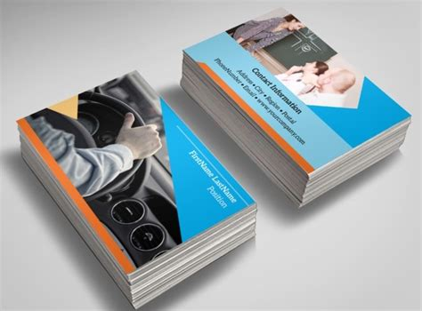 driving instructor business cards templates driving school business card template