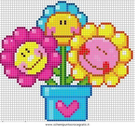 fiore punto croce fiori 38 schema punto croce gratuito da stare