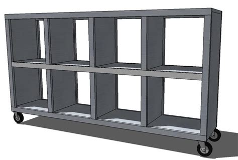 Cubby Shelf Plans by White 2x4 Console Cubby Shelves Diy Projects