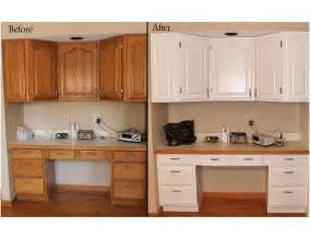 Before And After Kitchen Cabinet Painting Cabinetry Refinishing Starlily Design Studio