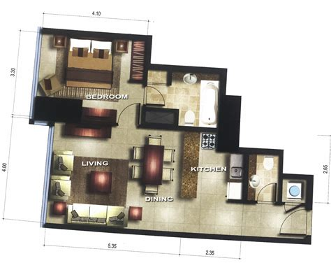 gate tower floor plan 1 bedroom type a656 gate tower 1 al reem island