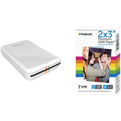 mobile polaroid printer polaroid zip mobile printer kit with 50 sheets of photo paper