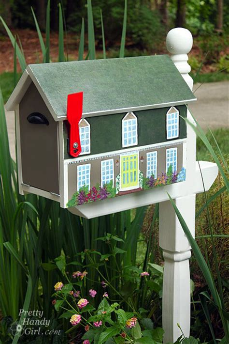 make a house shaped mailbox a lowe s creative idea
