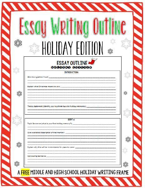 christmas essay themes this free holiday edition essay outline will help make