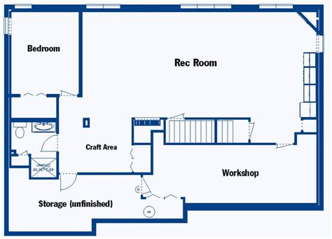 how to design a floor plan of a house basement floor plans for the home pinterest