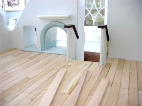 tiny handmade popsicle stick floors