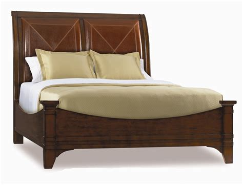 leather headboard bedroom set abbott place leather headboard sleigh bed 6 piece bedroom
