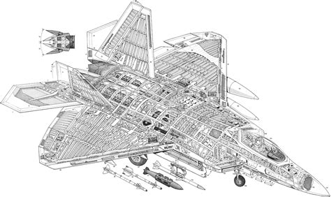 f section f 22 cutaway modern war machines air pinterest