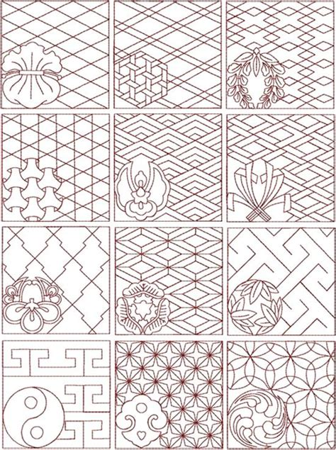 japanese pattern maker advanced embroidery designs sashiko set ii would make