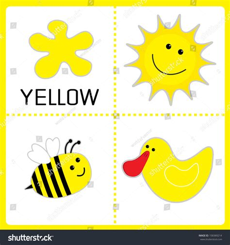 favorite color was yellow books learning yellow color sun bee duck stock vector 158389214