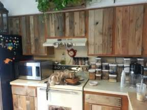 Diy Kitchen Furniture by Diy Cabinet Refacing With Pallet Board Kitchen