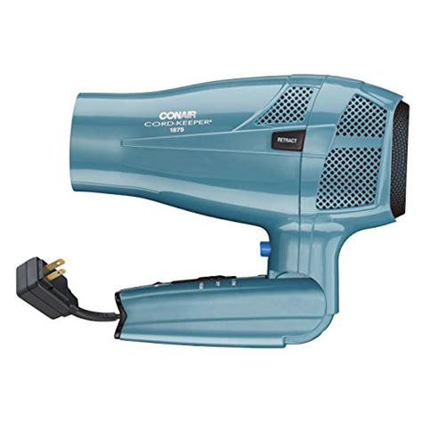 Conair Hair Dryer Retractable Cord conair 1875 watt cord keeper hair dryer with folding handle import it all
