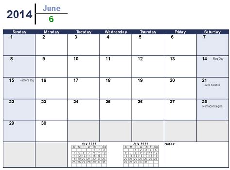 2014 Calendar Template Monthly 6 best images of june 2014 calendar printable pdf june