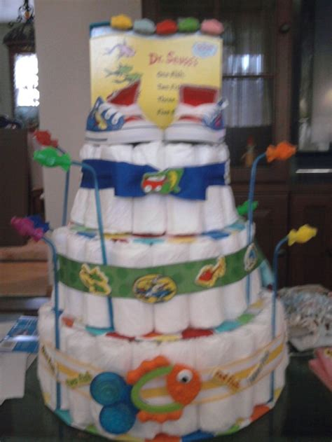 bedroom ideas bfafd: one fish two fish red fish blue fish diaper cake with baby one fish